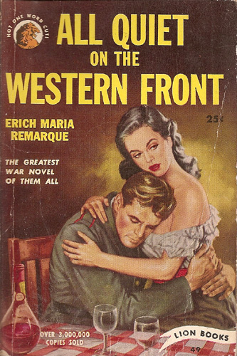 a portrayal of world war i in all quiet on the western front by erich maria remarque Free essay: erich maria remarque's classic novel all quiet on the western front is based on world war i it portrays themes involving suffering, comradeship.